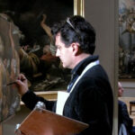 Art teacher at the Louvre. Paris