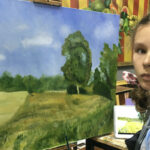 Art student at work