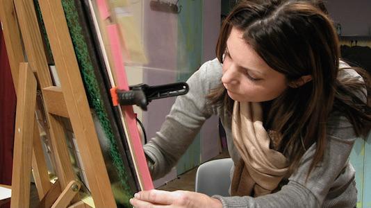 Art workshop with teacher